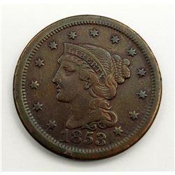1853 Large Cent VF