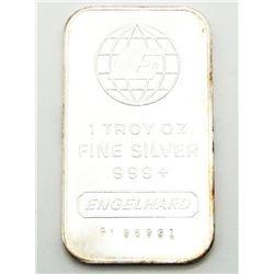 ENGELHARD 1 TROY OUNCE .999 SILVER
