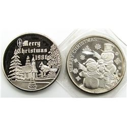 2-.999 SILVER CHRISTMAS ROUNDS