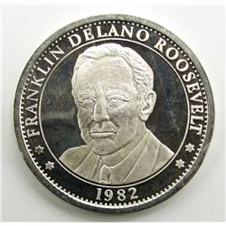 1982 .999 SILVER F.D.R.PROOF ROUND