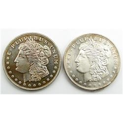 2-.999 SILVER ROUNDS MORGAN STYLE