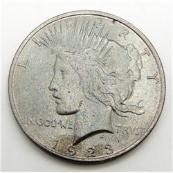 1923 PEACE RAINBOW REVERSE DOLLAR