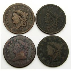 1810, 1826, 1834, 1838 Large Cents CIRC's