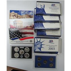 10 - U.S. Proof Quarter Sets