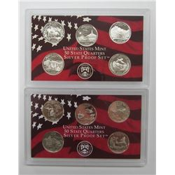 2-U.S. SIVER PROOF QTR SETS