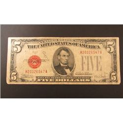 1928E $5 RED SEAL NOTE