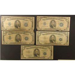5-$5 SILVER CERTIFICATES