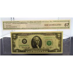 1976 $2 FED RES NOTE CGA 67