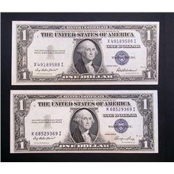 1935E & 1935F $1 SILVER CERT