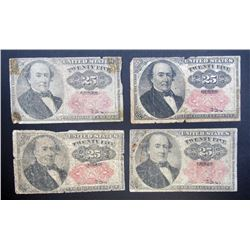 4-1874 25c FRACTIONAL NOTES