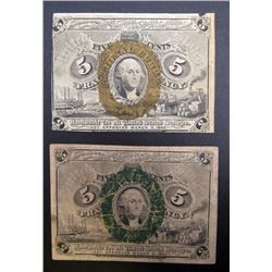 2-1863 5c FRACTIONAL NOTES