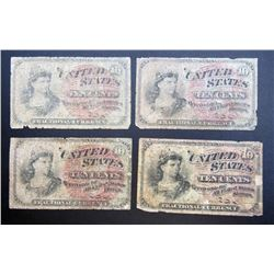 4-1863 10c FRACTIONAL NOTES