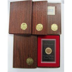 1971, 1972, 1973, 1974 SILVER PRF IKE DOLLARS
