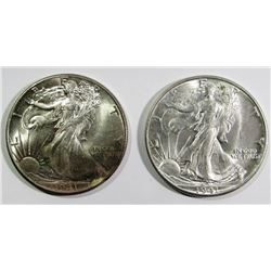 1941 & 1941-D WALKING LIBERTY HALF DOLLARS
