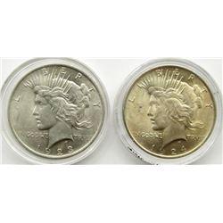 1923 & 1924 PEACE DOLLARS