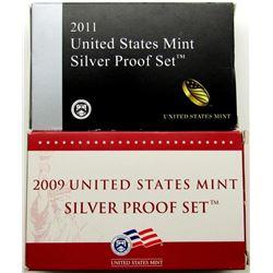 2009 & 2011 U.S. MINT SILVER PROOF SETS