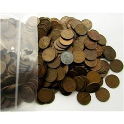 1000 MIXED LOT OF WHEAT PENNIES