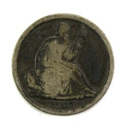 1837 SEATED HALF DIME- GOOD/VG
