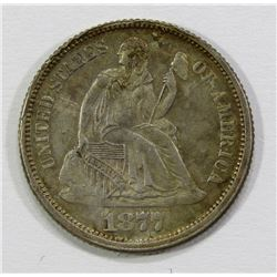 1877 SEATED DIME- F/ VF-