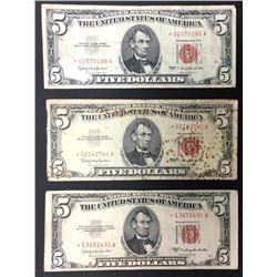3- $5 RED SEAL STAR NOTES CIRCS