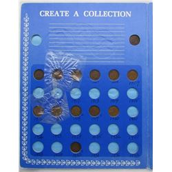 CREATE A COLLECTION CENT BOOK: (6)INDIAN CENTS,