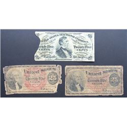 3-1863 25c FRACTIONAL CURRENCY NOTES