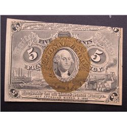 1863 5c FRACTIONAL NOTE