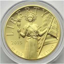 2015 $100 AMERICAN LIBERTY HIGH RELIEF