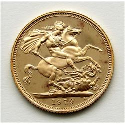 1979 GREAT BRITAIN PROOF GOLD SOVEREIGN COIN
