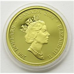 2002 $200 GOLD COIN THE JACK PINE CANADA 1/2 OZ.