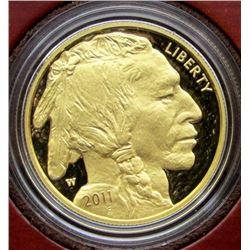 2011 AMERICAN BUFFALO 1 OZ. GOLD $50 PROOF .9999