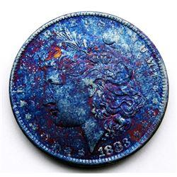 1883-O MORGAN DOLLAR CRAZY COLORS