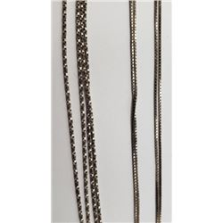2-STERLING NECKLACES/CHAINS LONG!