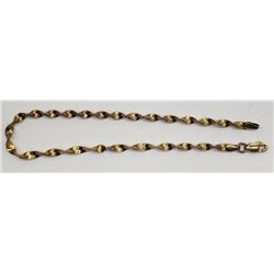 GORGEOUS 8 INCH GOLD COLORED STERLING BRACELET