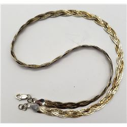 16 INCH ITALY STERLING NECKALCE WITH BRAIDED
