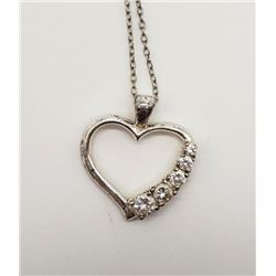 18 INCH NECKALCE WITH LARGE HEART PENDANT