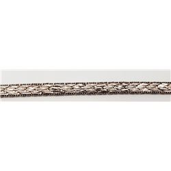 7 INCH ITALY STERLING BRACELET WITH WOVEN