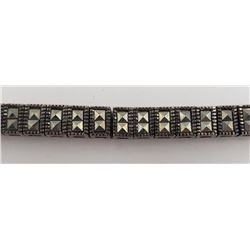 7 INCH STERLING BRACELET WITH A SPARKLY
