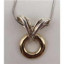 16 INCH STERLING NECKLACE WITH PENDANT