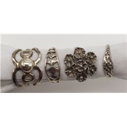 4-STERLING RINGS DIFFERENT DESIGNS