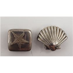 2-STERLING SEASHELL CHARMS
