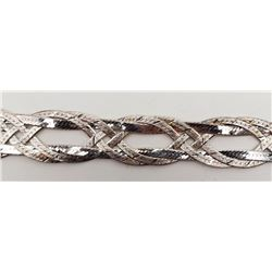 7 INCH ITALY STERLING BRACELET WITH UNIQUE