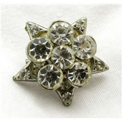 STERLING SILVER STAR PIN TOTAL 3.9 DWT