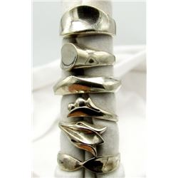 5-STERLING RINGS DIFFERENT STYLES