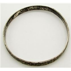 ANTIQUE STERLING MEXICO BANGLE WITH ENGRAVED