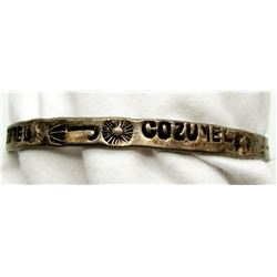 "STERLING BANGLE WITH ""COZUMEL"" ENGRAVED WITH"