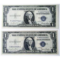 1935D & 1935E $1 SILVER CERTS