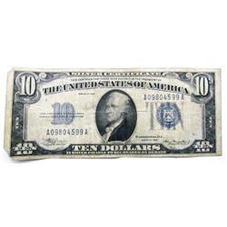 1934 $10 SILVER CERT