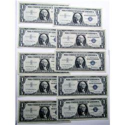 10-$1 SILVER CERTIFICTATES