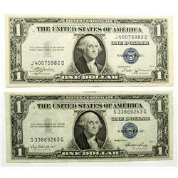 1935B & 1935E $1 SILVER CERT